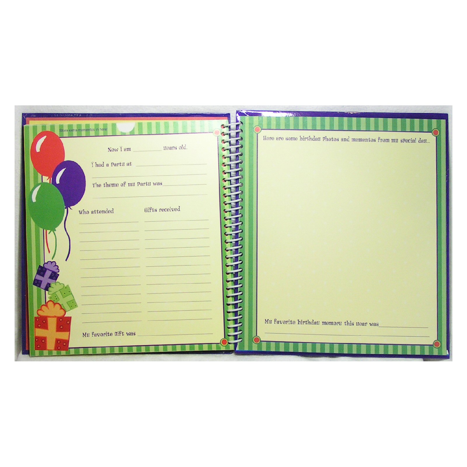 Birthday Memories Keepsake Scrapbook and Photo Album - Click Image to Close